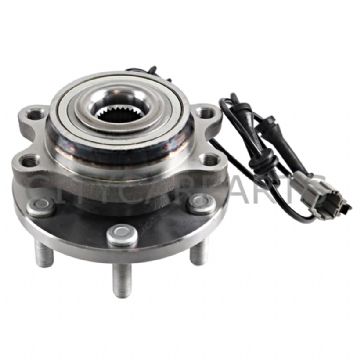FRONT WHEEL BEARING HUB + ABS FOR A NISSAN NAVARA 2.5 DCi D40 & PATHFINDER R51